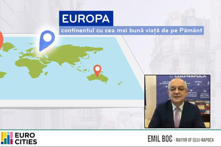 """Visul european al lui Emil Boc: """"putem avea cea mai bună viață de pe Pământ în Europa"""""""